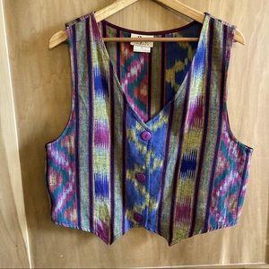 Vintage 90s Multicolour Vest Sz Large